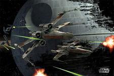 Star Wars Poster - X-Wings Space Battle Todesstern - Film Plakat - 91,5 x 61 cm