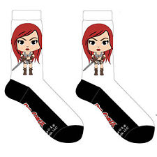 Red Sonja White And Black 1 Pair Of Crew Socks NEW Toys Clothing Comics