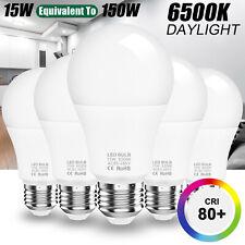150W 90W 50W Equivalent LED Light Bulb A19 6500K 1350lm Cool Daylight White E26