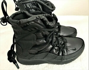 NEW Nike Tanjun High Rise Black Lace Up Boots Shoes Women's Size 7.5 AO0355-002