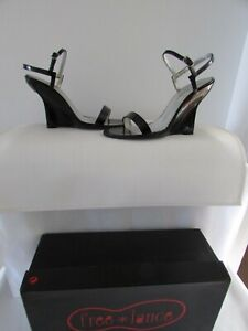 Wedge Sandals free lance Black Patent Leather 37