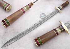 "26"" ONE OF KIND Custom made Beautiful Damascus Steel Sword Knife (958-2)"