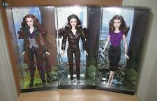 3 x Pink Label TWILIGHT SAGA BARBIE DOLLS (Victoria, Bella and Esme) NRFB