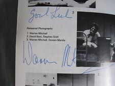 Warren Mitchell Hand Signed Autograph Theatre Pro Programme Death Of A Salesman