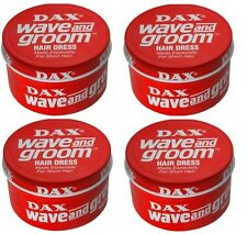 4 X Dax Wax Red Wave and Groom 99g Tin