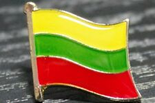 LITHUANIA Lithuanian Country Metal Flag Lapel Pin Badge *NEW*