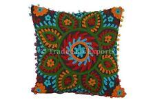 "Indian Decorative 16"" Embroidered Suzani Art Cushion Shams Home Decor Pillowcase"