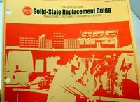RCA CATALOG Brochure Ad Solid-State Replacement Guide Transistors Rectifiers