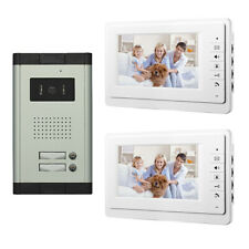 Apartment Wired Video Door Phone Doorbell Audio Visual Intercom System 2 Units