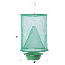 Outdoor Folding Reusable Hang Fly Insect Trap Net Catcher Killer Cage + Bait Pot