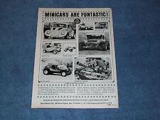 1971 Vintage Motion Minicar Ad Meyers Manx Phase III V-Dub SR