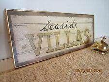 Nautical Seaside Villa Sign & Front Desk Bell