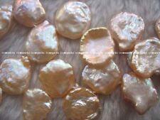 """freshwater pearl pink reborn keshi 16-18mm  15"""" loose beads"""