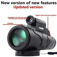 New Day&Night Vision 50X60 HD Optical Monocular Hunting Camping Hiking Telescope