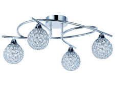 TP24 Piccadilly Osterley 4x3W LED chrome round glass ceiling light