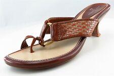 Linea Paolo Flip Flops Brown Leather Women Shoes Size 6 Medium (B, M)