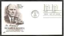 US SC #1853 Great American Issue/ Richard Russell FDC. Artcraft Cachet.