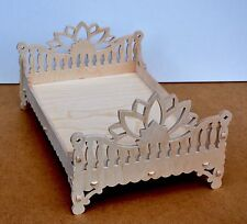 Barbie and Ken Indian style bed , Dollhouse miniature furniture, two dolls bed