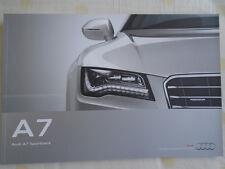 Audi A7 Sportback brochure Sep 2011 European market English text