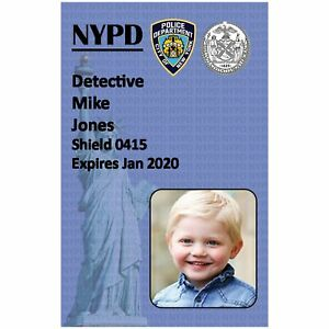 NYPD Police Badge | Childs Play ID | Fancy Dress | Photo ID Holder