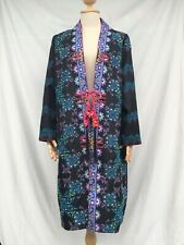 Mhong Ethnic Hand- Embroidered Vintage Long Jacket,Coat , Artsy , Boho Style
