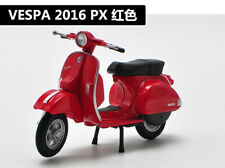Welly 1:18 Vespa 2016 PX MOTORCYCLE BIKE DIECAST MODEL Toy NEW IN BOX Red