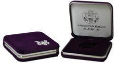 US Mint Presentation Gift Display Case For 1/2 oz Platinum American Eagle Coin