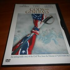 Gods and Generals (DVD, Widescreen 2003) Robert Duvall, Jeff Daniels Used