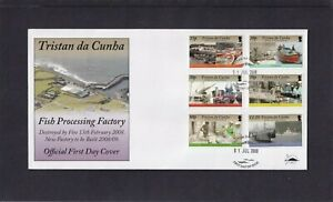Tristan da Cunha 2008 Fish Processing Factory ships First Day Cover FDC