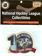2007 2008 Nashville Predators 10th Anniversary Jersey Patch Official NHL Package