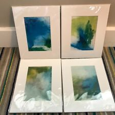 New Set of 4 Beach Abstract Prints Art by Liz Wiley