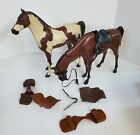 OH222 VINTAGE 60'S MARX THE BEST OF THE WEST BUCKSKIN & STORM CLOUD HORSES