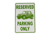 Jeep Parking only metal sign New