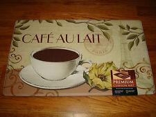 Anti Fatigue PVC Kitchen Floor Mat Rug 18x30 COFFEE Cafe Au Lait PARIS Floral!