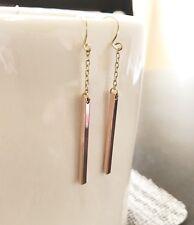 Handmade Rose Gold Plated Bar Stick fashion Dangle Earrings US Seller