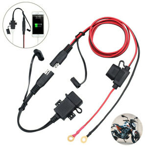 Motorcycle SAE to USB Charger Cable Adapter Waterproof Socket Charger 12V/24V UK