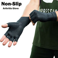 Copper Arthritis Gloves Compression Wrist Support Hand Finger Joint Pain Relief