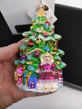New ListingRare Christopher Radko Ornament A Little Girl's Dream Christmas Tree With Box!