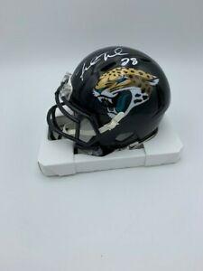 Fred Taylor signed Jacksonville Jaguars speed Riddell NFL  mini helmet COA/Holo