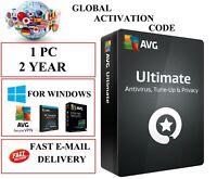 AVG ULTIMATE 2021 1 PC 2 YEAR EU / DE / GLOBAL KEY CODE (EMAIL DOWNLOAD)