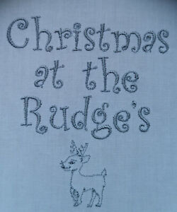 """personalised embroidered christmas napkins 100% cotton 16"""" gift present any name"""