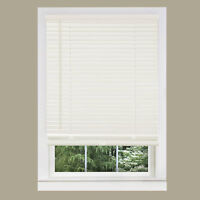 "Cordless Window Minds Mini Blinds 1"" Slats Alabater Vinyl Blind"