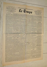 FAC-SIMILE A LA UNE JOURNAL LE TEMPS 07/12 1921 IRLANDE INDEPENDANCE REPUBLIQUE