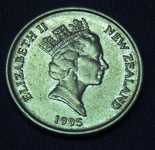 C001-48 # NEW ZEALAND | QUEEN ELIZABETH II, 5 CENTS, 1995, VF+