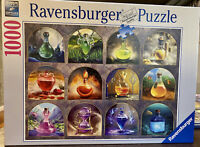 Ravensburger Magic Potions 1000 Piece Jigsaw Puzzle. All Pieces. Completed Once.