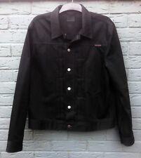Nudie Jeans Black Denim Jacket Mens XL
