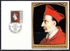 LIECHTENSTEIN 1981 KARL MAILAND MAXI CARD SCOTT 722