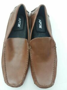 Men's Apt.9 Brown Leather Driving Shoes / Loafers size 9M~ NEW ~