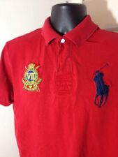 Polo Ralph Lauren Country Riders Jockey Club Big Pony Embroidered Polo Red Large