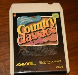 8-Track Tapes Country Cloassics 8-Track Adam VIII 1976 Various